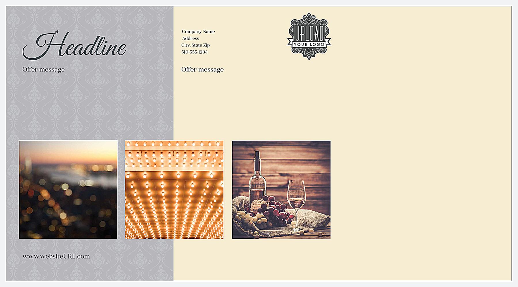 Swirly Banner back - Postcards Maker