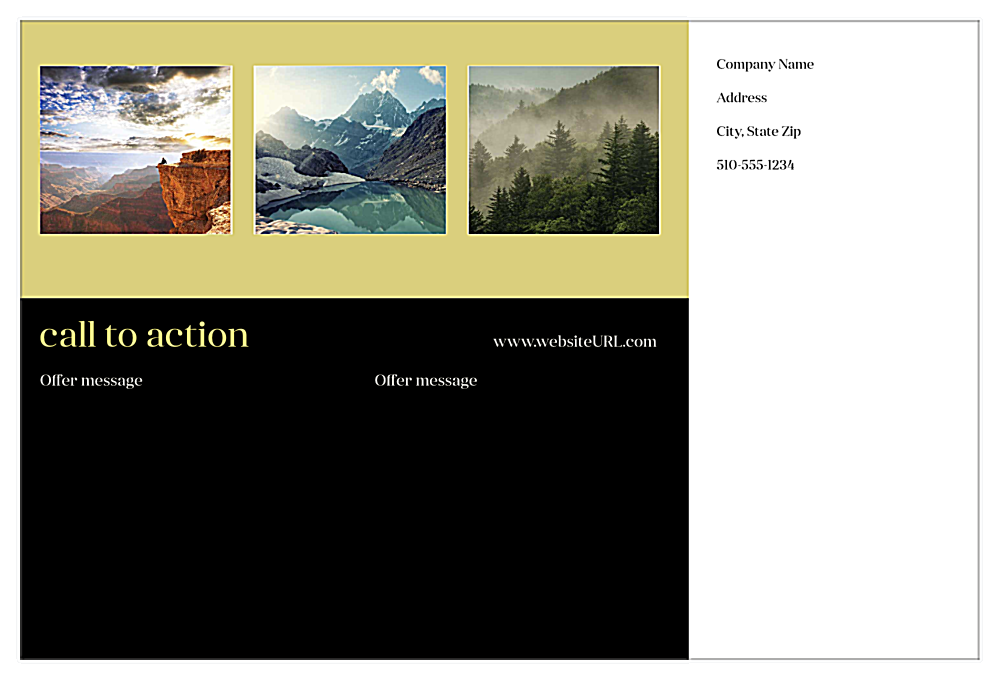 Print Custom Postcards with Call To Action Design Template back - Postcards Maker