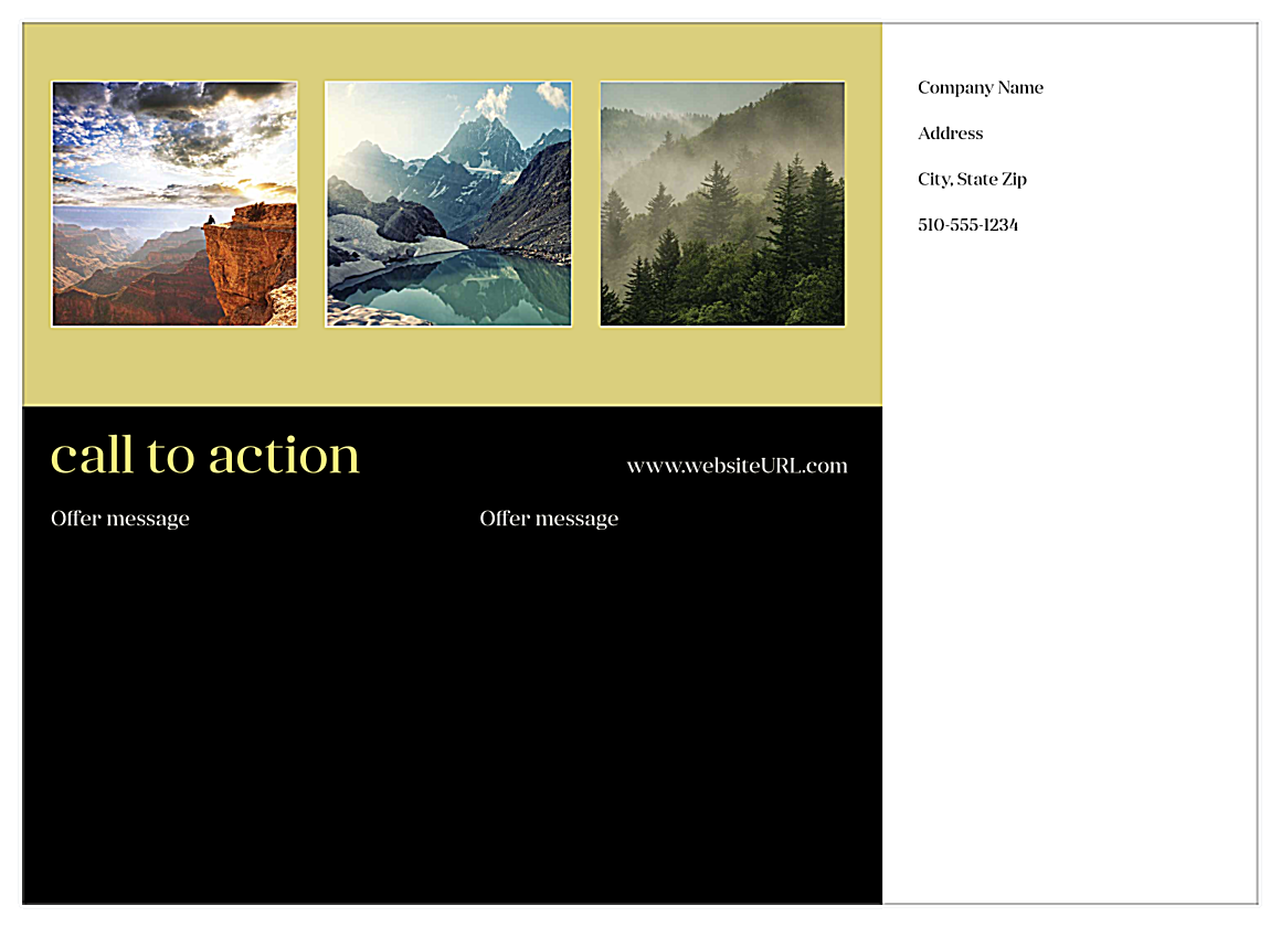 Call To Action back - Postcards Maker