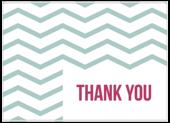 Wavy Thanks - postcards Maker