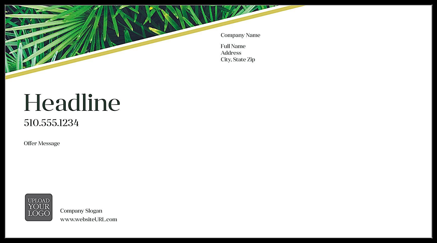 Palm Leaves back - Postcards Maker