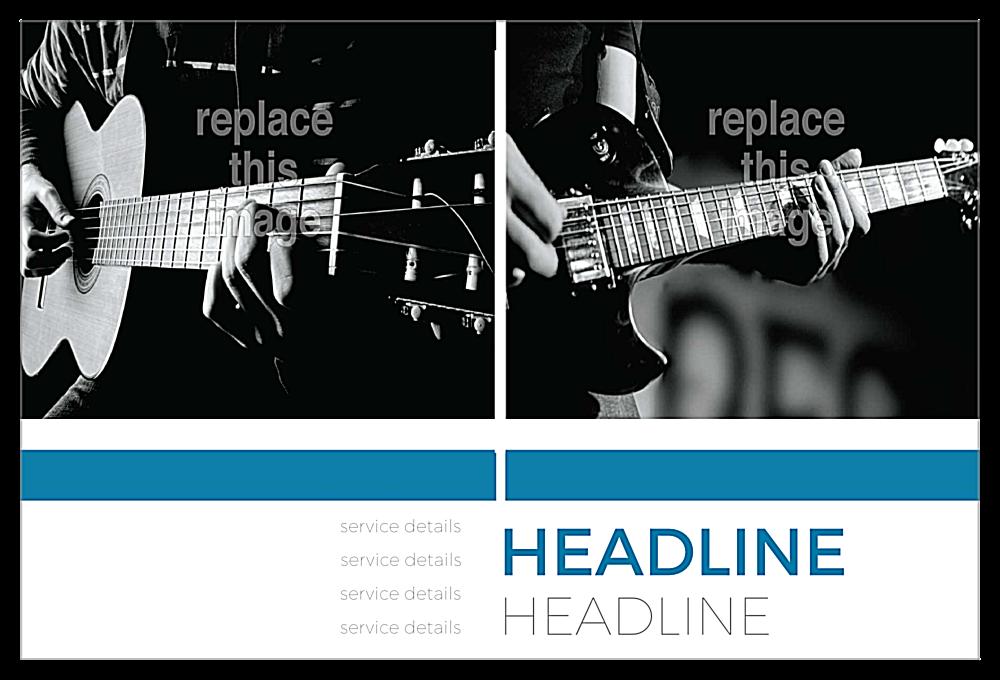 Guitar Lessons back - Postcards Maker