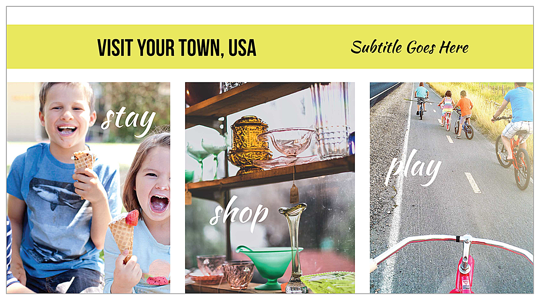 Small Town Tourism front - Postcards Maker