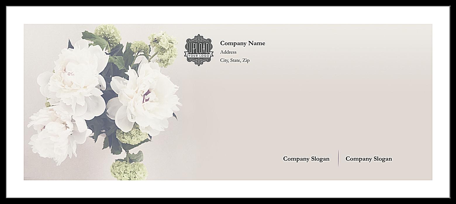 Hydrangea Elegance front - Standard Envelopes Maker