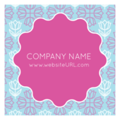 Floral Circle - stickers-labels Maker
