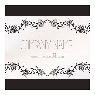 Customize Our Ornate Border Sticker Design Template