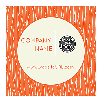 Personalize Our Circle Vines Sticker Design Template
