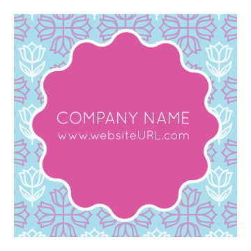 Personalize Our Floral Circle Sticker Design Template front - Stickers Maker