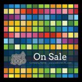 Colored Pixels - stickers-labels Maker