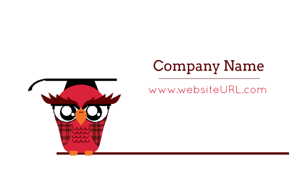Classroom Owl front - Ultra Business Cards Maker