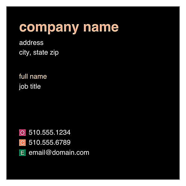 Colored Rectangles front - Ultra Business Cards Maker