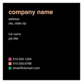 Colored Rectangles - ultra-business-cards Maker