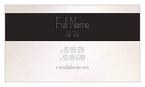 Flower Border back - Ultra Business Cards Maker