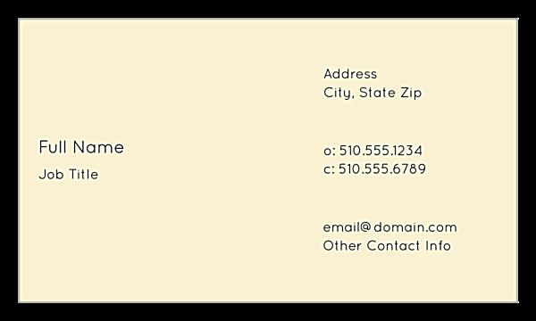 Cityscape Dream back - Ultra Business Cards Maker