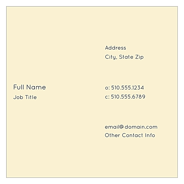 Cityscape Dream back - Ultra Business Cards Maker