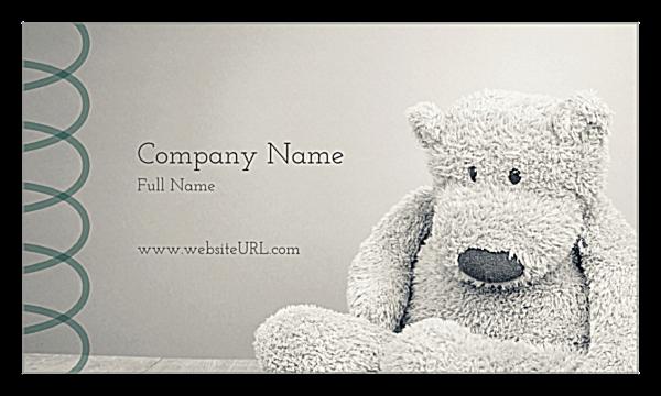 Bear Necessity back - Ultra Business Cards Maker