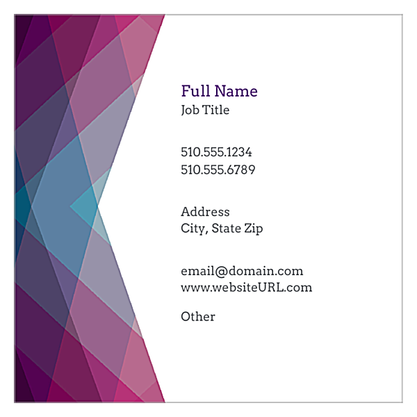 Purple Haze front - Ultra Business Cards Maker