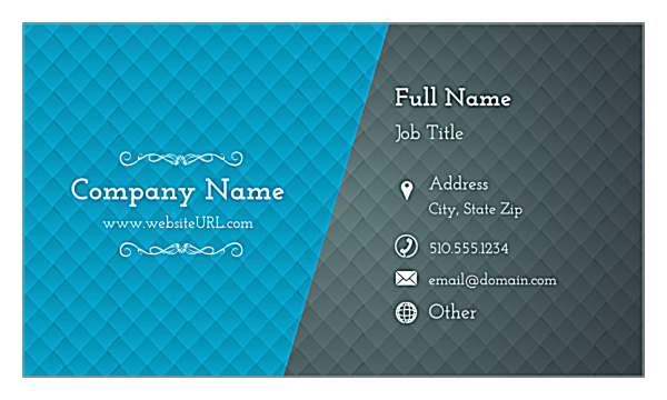 Blue & Gray Diamonds front - Ultra Business Cards Maker