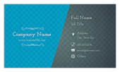 Blue & Gray Diamonds - ultra-business-cards Maker
