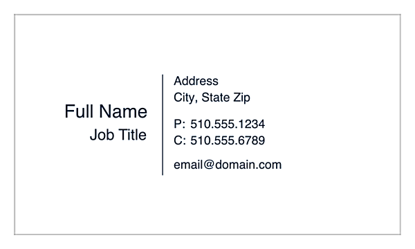 The Standard Style back - Ultra Business Cards Maker