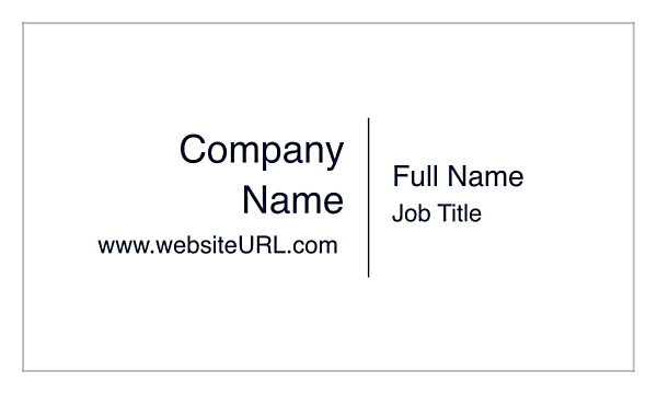 The Standard Style front - Ultra Business Cards Maker