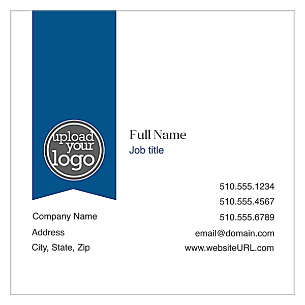 Ribbon front - Ultra Business Cards Maker