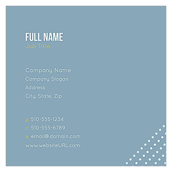 Dots front - Ultra Business Cards Maker