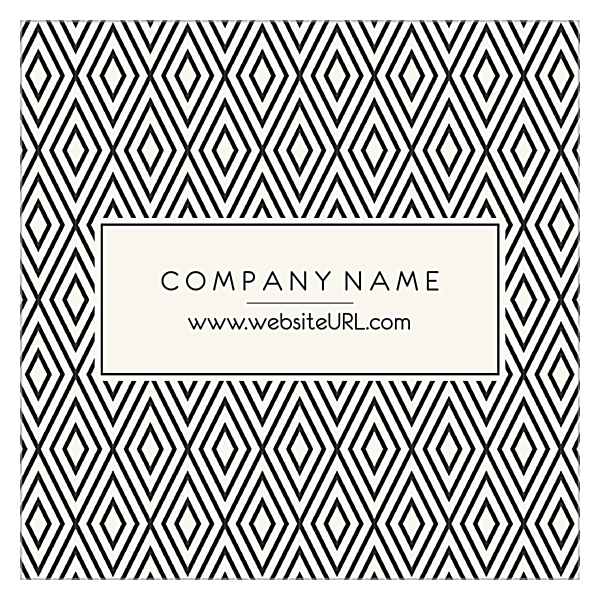 Diamond Pattern front - Ultra Business Cards Maker