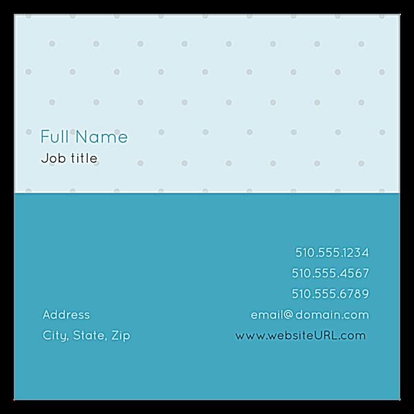 Polka Dots back - Ultra Business Cards Maker