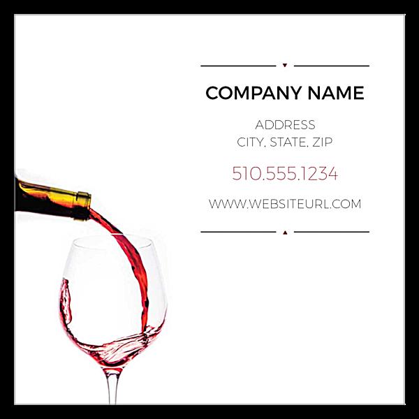 Let The Wine Flow front - Ultra Business Cards Maker