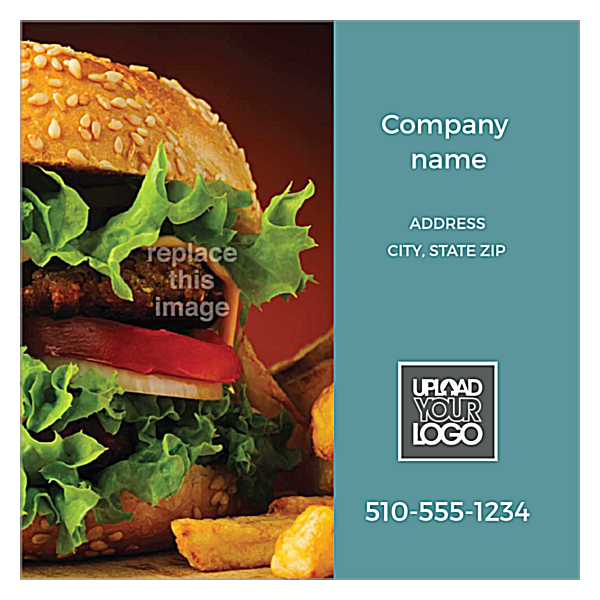 Burger & Fries front - Ultra Business Cards Maker