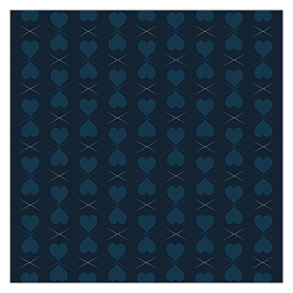Pattern of Hearts back - Ultra Business Cards Maker