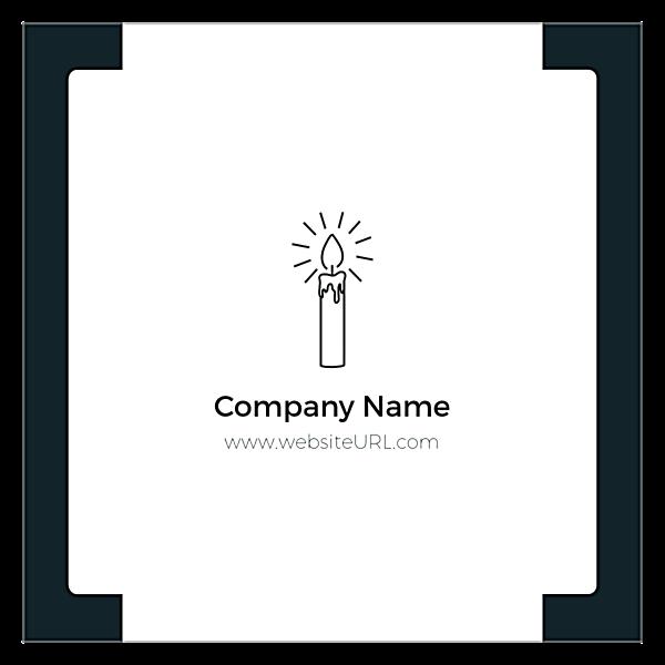 CandleLight back - Ultra Business Cards Maker