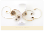 Postcards-Individual- Quilling Wine Glass - ultra-postcards Maker