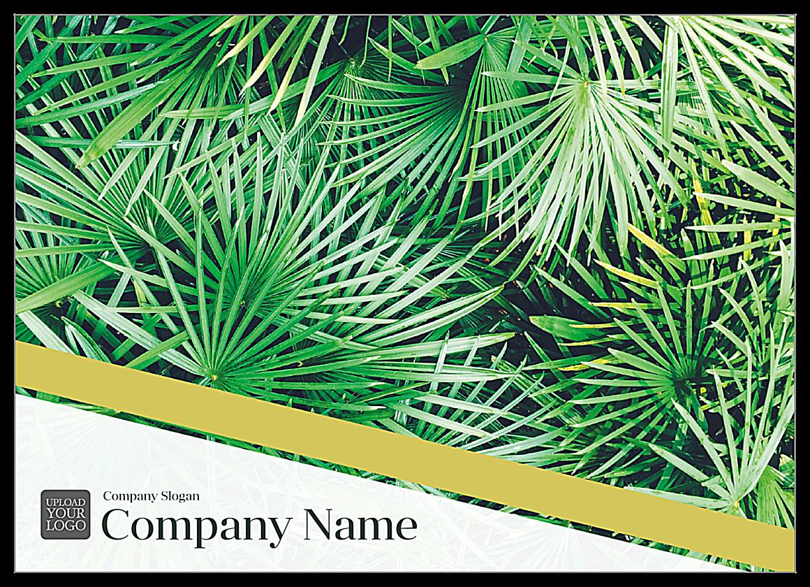 Palm Leaves front - Ultra Postcards Maker