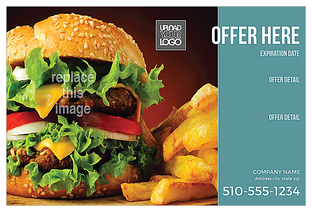 Burger & Fries front - Ultra Postcards Maker