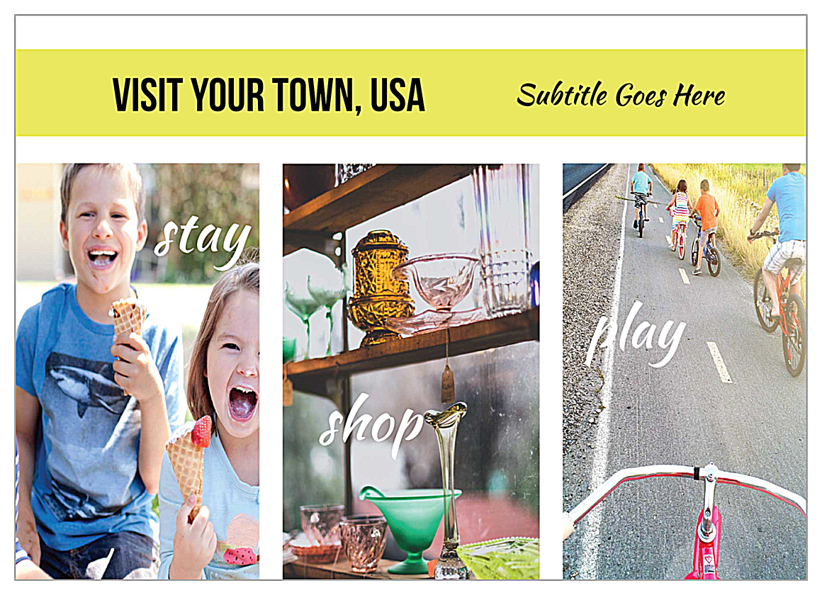 Small Town Tourism front - Ultra Postcards Maker